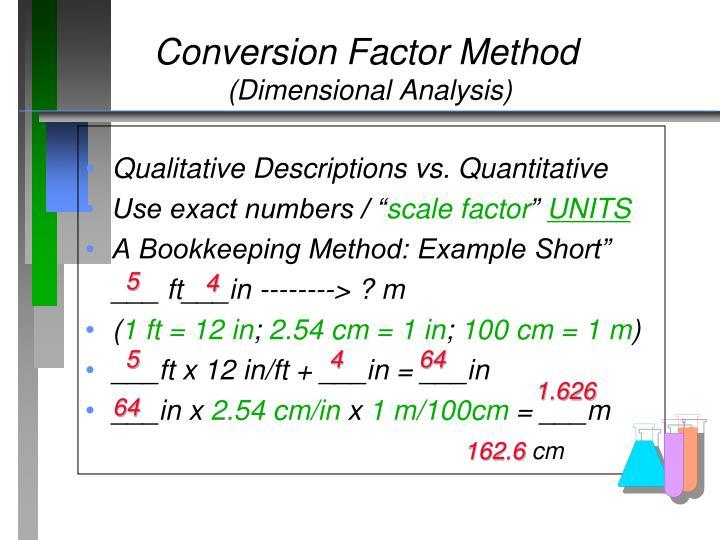 Conversion Factor Method