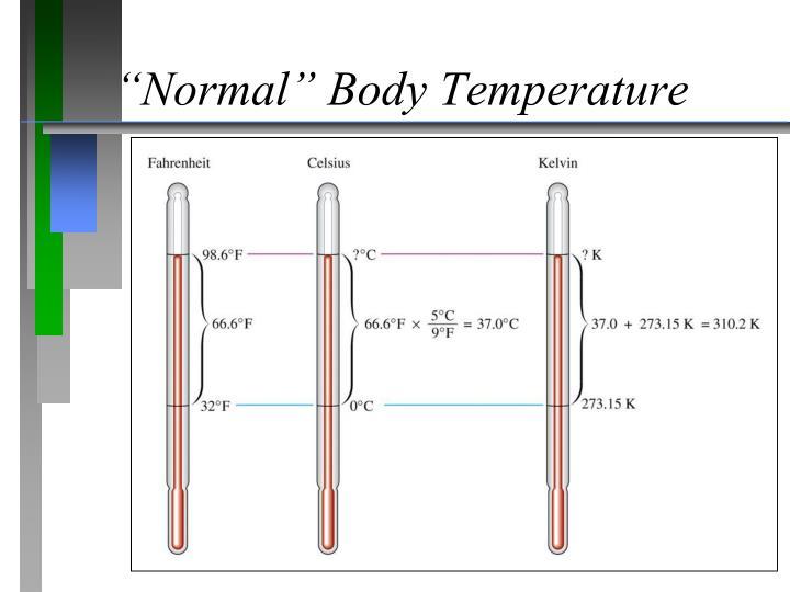 """Normal"" Body Temperature"
