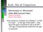 scale size comparison