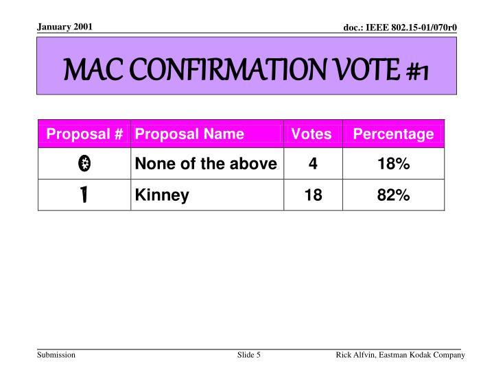 MAC CONFIRMATION VOTE #1