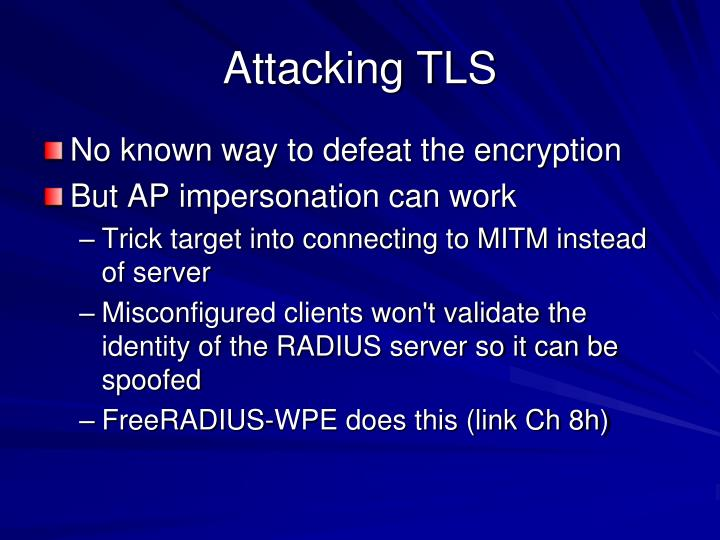 Attacking TLS