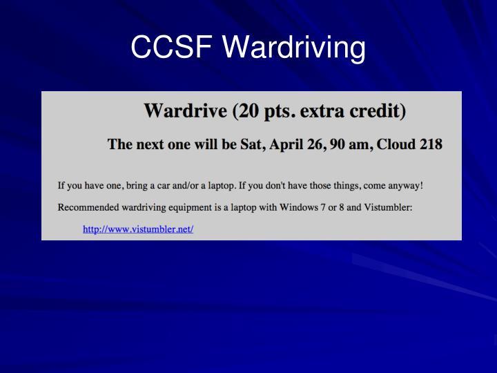 CCSF Wardriving