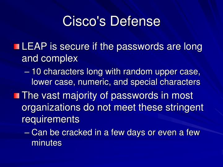 Cisco's Defense