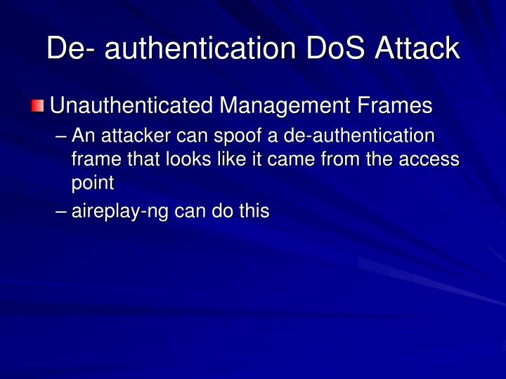 De- authentication DoS Attack