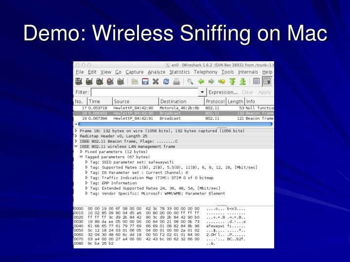 Demo: Wireless Sniffing on Mac