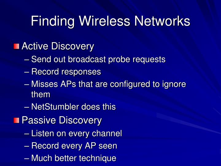 Finding Wireless Networks