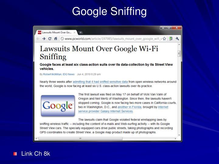 Google Sniffing