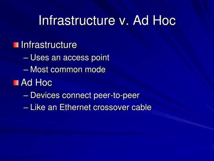 Infrastructure v. Ad Hoc