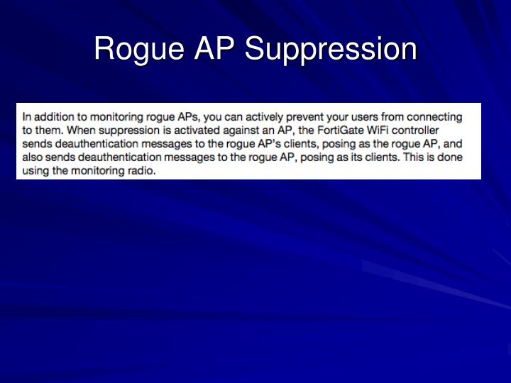 Rogue AP Suppression