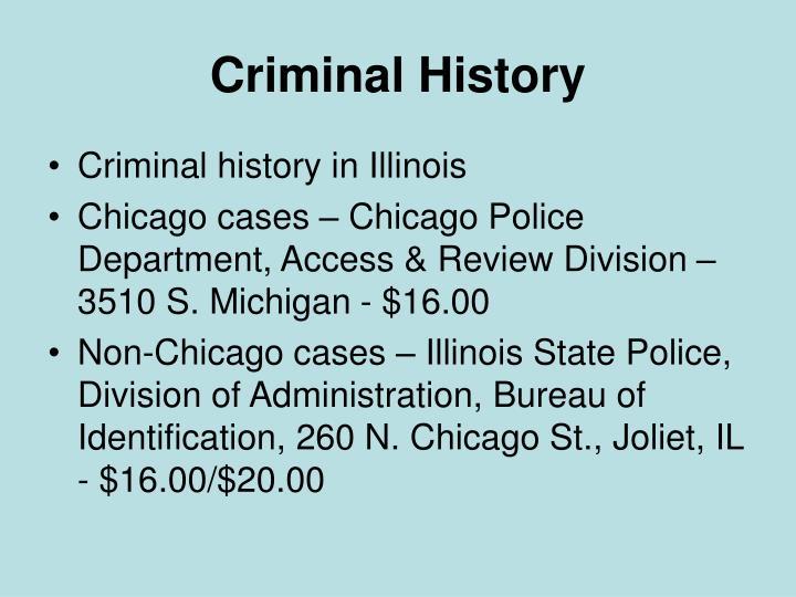 Criminal History