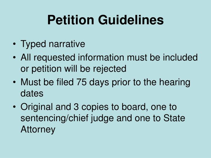 Petition Guidelines