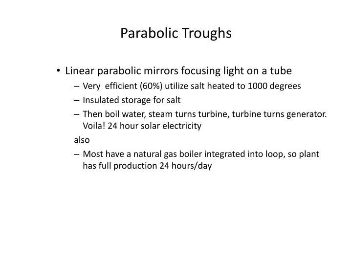 Parabolic Troughs