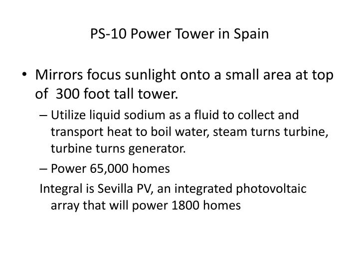PS-10 Power Tower in Spain