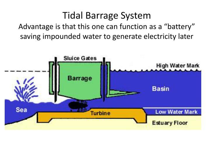 Tidal Barrage System