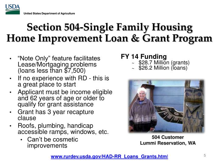 Section 504-Single Family Housing