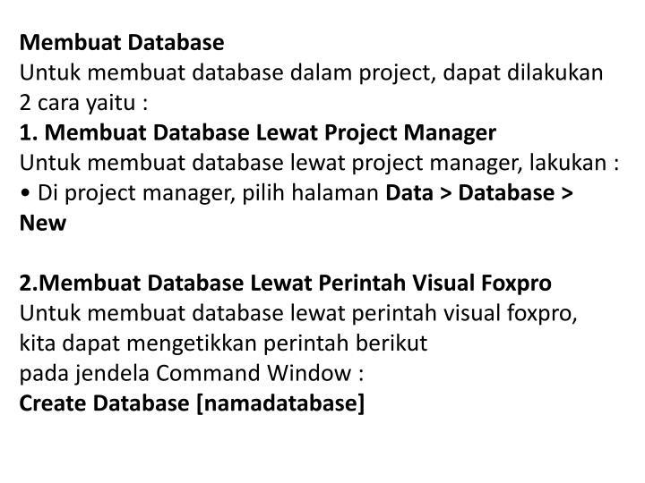 Membuat Database