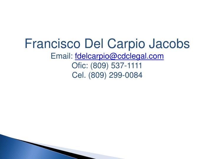 Francisco Del Carpio Jacobs