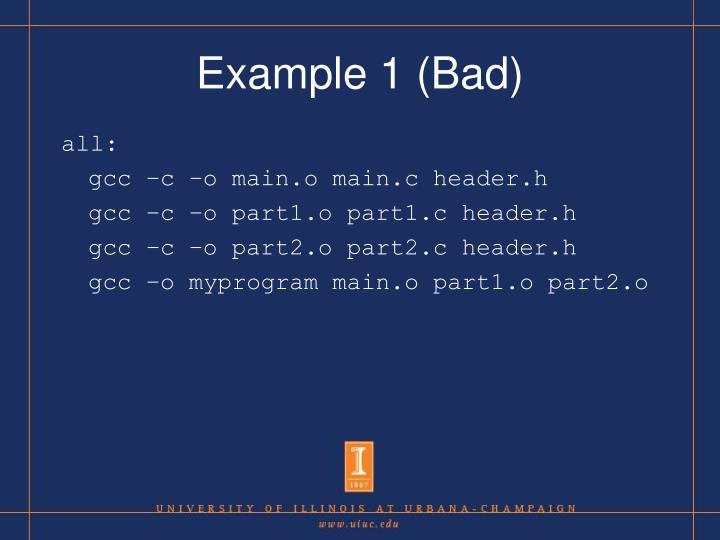 Example 1 (Bad)