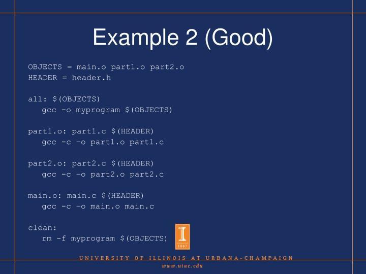 Example 2 (Good)
