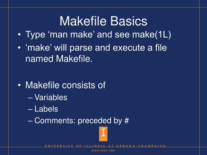 Makefile Basics