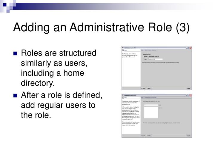 Adding an Administrative Role (3)