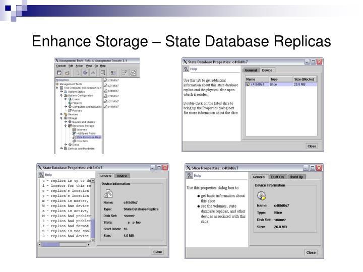Enhance Storage – State Database Replicas