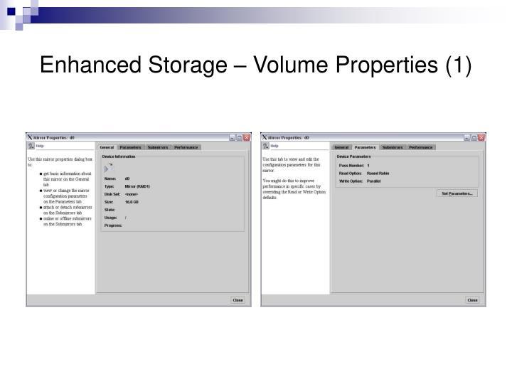 Enhanced Storage – Volume Properties (1)