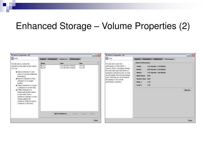 Enhanced Storage – Volume Properties (2)