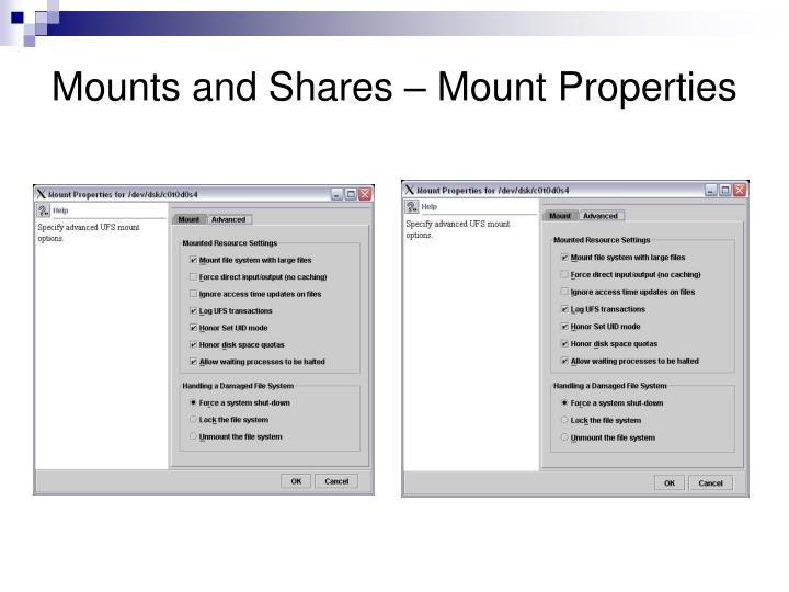 Mounts and Shares – Mount Properties