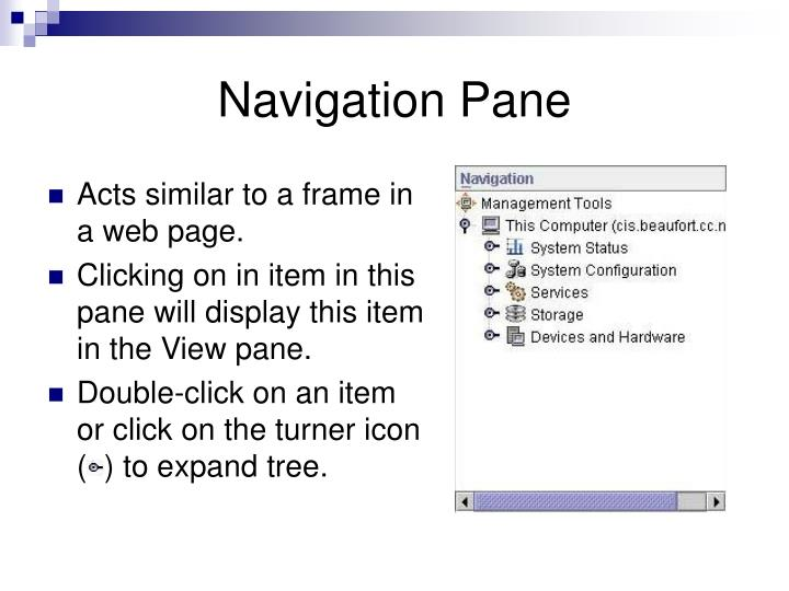 Navigation Pane
