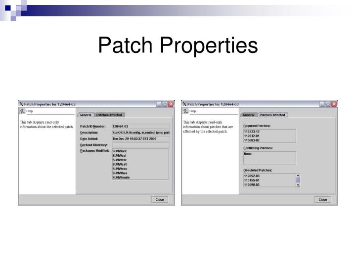 Patch Properties