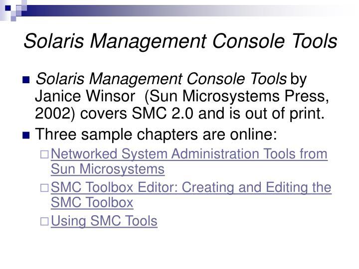 Solaris Management Console Tools