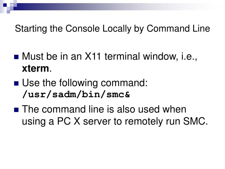 Starting the Console Locally by Command Line