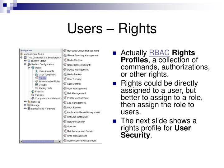 Users – Rights