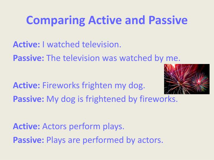 Comparing Active and Passive