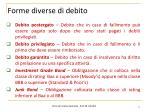 forme diverse di debito1