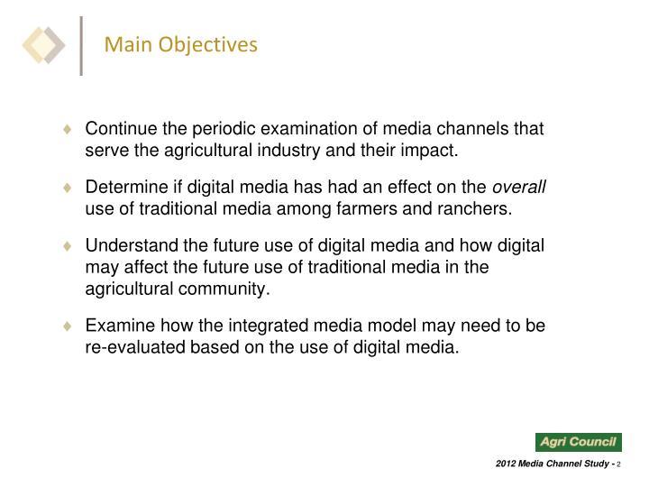 Main Objectives