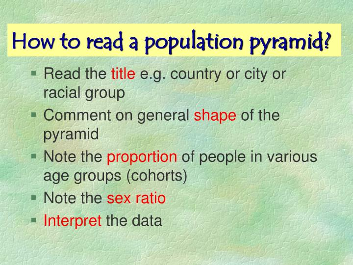 How to read a population pyramid?