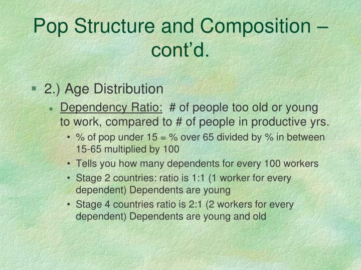 Pop Structure and Composition – cont'd.