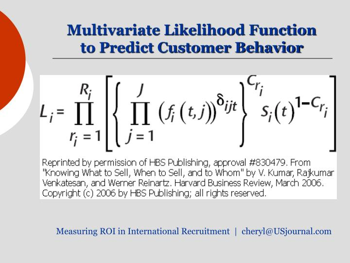 Multivariate Likelihood Function