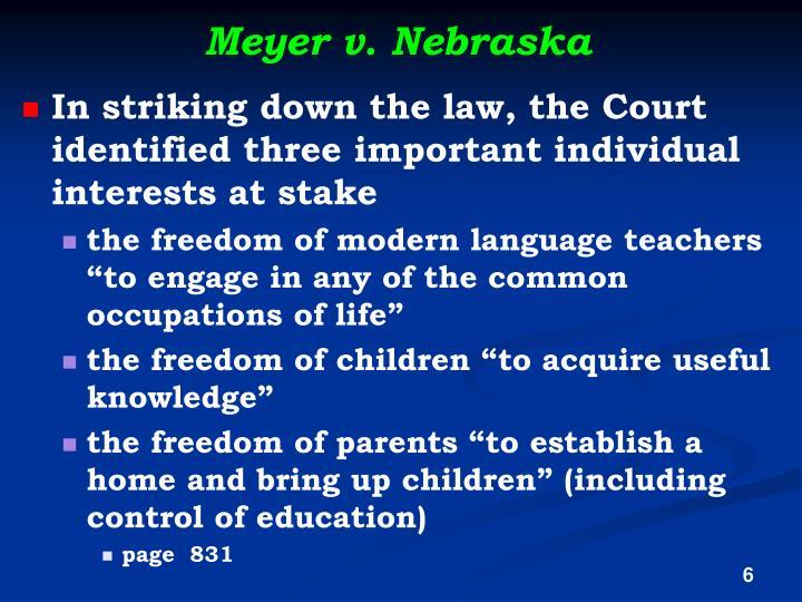 Meyer v. Nebraska