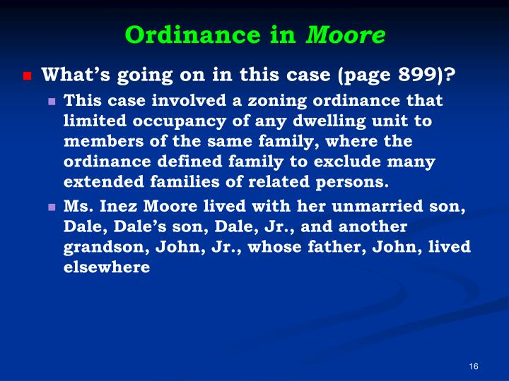 Ordinance in
