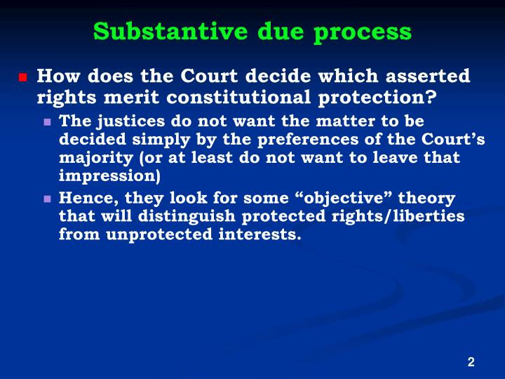 Substantive due process