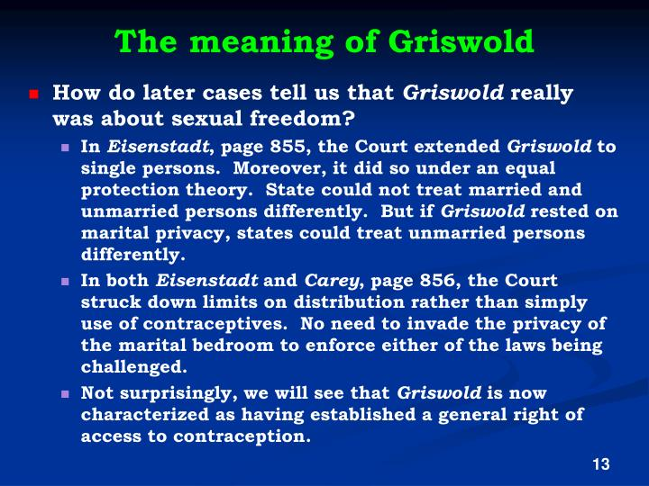 The meaning of Griswold