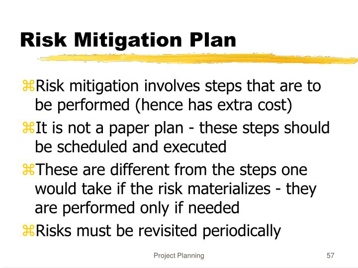 Risk Mitigation Plan