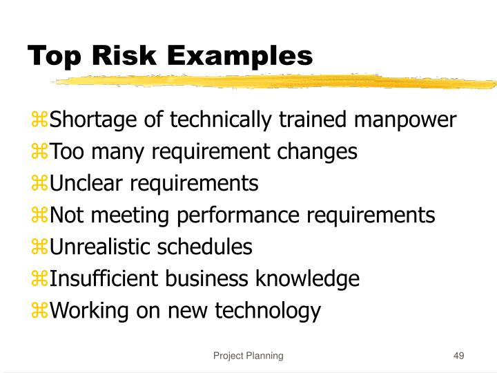 Top Risk Examples