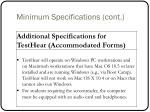minimum specifications cont1