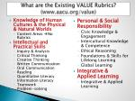 what are th e existing value rubrics www aacu org value