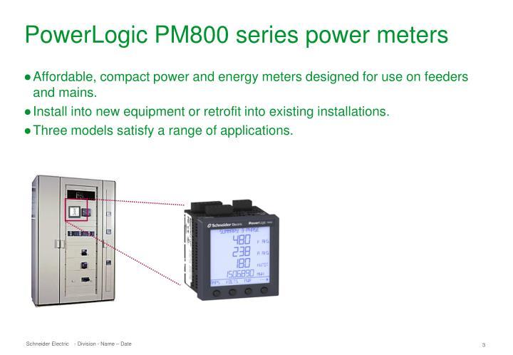 Powerlogic Energy Meter : Ppt powerlogic pm series powerpoint presentation id