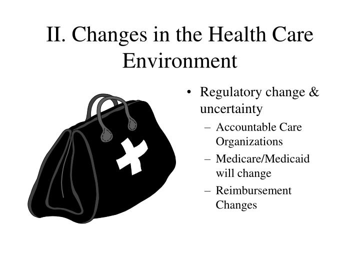 II. Changes in the Health Care Environment
